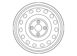 Wheel, Steel - Hyundai (52910-1R005)