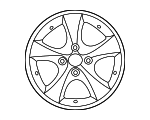 Wheel, Alloy - Hyundai (52910-1R205)