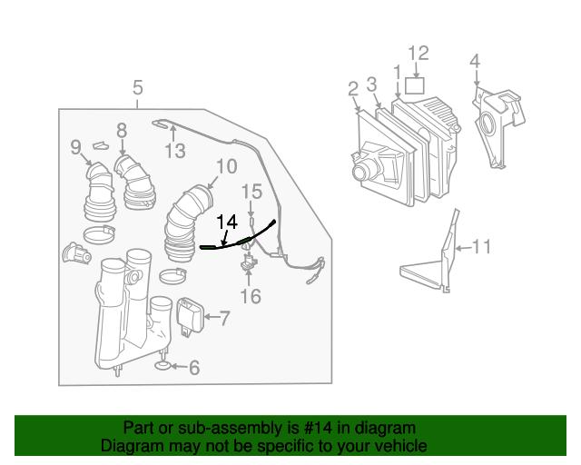 vacuum hose - gm (25736892)