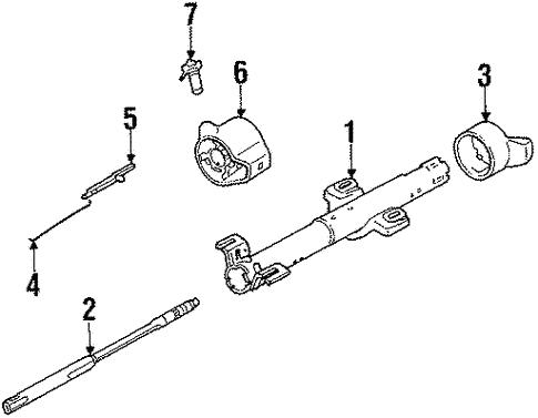 Oem 1988 Pontiac Fiero Rear Suspension Mounting Parts