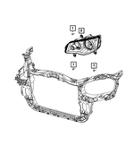 Headlamp Park And Turn Lamp, Right - Mopar (5113336AI)