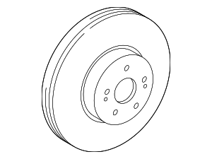 Disc Brake Rotor - Toyota (43512-06200)