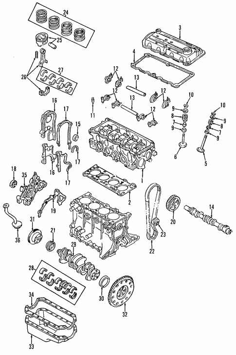 OEM 1997 Ford Aspire Engine Parts - BlueSpringsFordParts.comBlue Springs Ford Parts