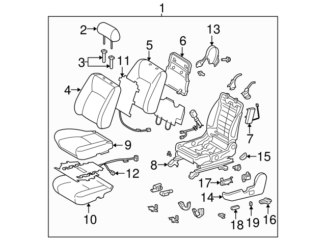 2002 2015 Toyota Headrest Guide 71931 47010 B2 Genuine Toyota Parts