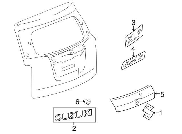 Suzuki Xl7 Dealer Parts