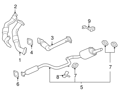 2010 impala engine diagram exhaust components for 2010 chevrolet impala gmpartonline  2010 chevrolet impala