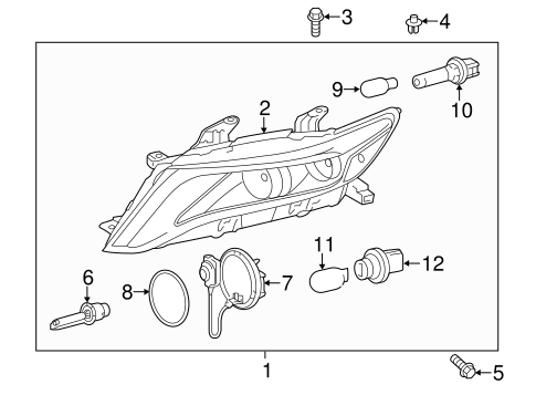 ELECTRICAL/HEADLAMP COMPONENTS for 2015 Toyota Venza #3