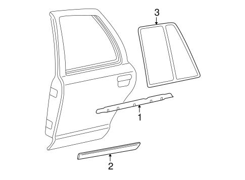 exterior trim rear door for 2004 mercury grand marquis. Black Bedroom Furniture Sets. Home Design Ideas