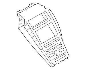 Radio Bezel - Ford (HP5Z-19980-BW)