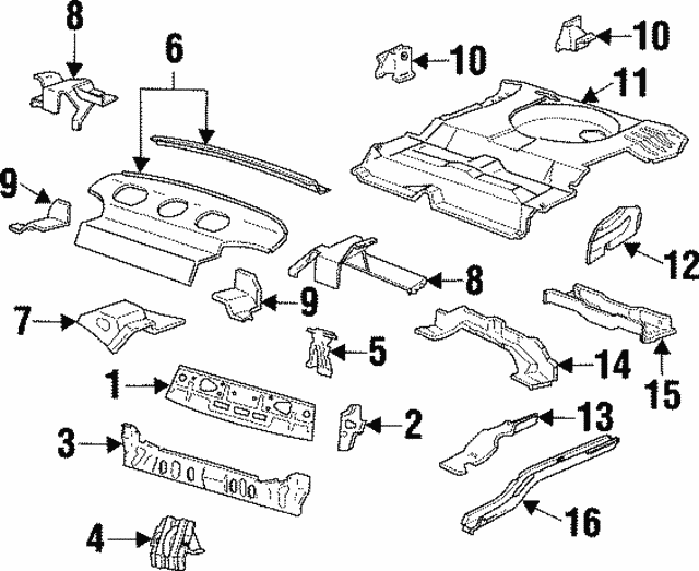 1996 1999 Ford Support F6dz5446812a
