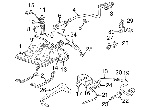 Fuel System Components For 2005 Chevrolet Monte Carlo