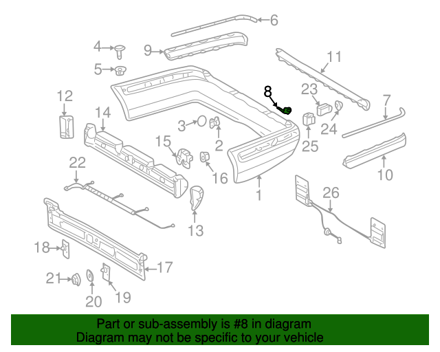 Corner cover mercedes benz 210 885 13 23 mb oem parts for Mercedes benz oem replacement parts