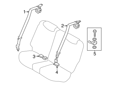 rear seat belts for 2013 hyundai accent hyundaiparts. Black Bedroom Furniture Sets. Home Design Ideas