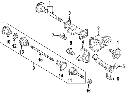 Carrier Front Axles For 1995 Nissan Pathfinder