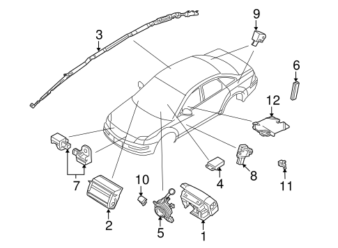 Electrical/Air Bag Components for 2009 Ford Taurus #1