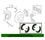 Park Brake Shoes - Mercedes-Benz (003-420-34-20)