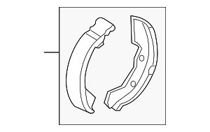 Park Brake Shoes - Mitsubishi (4800A002)
