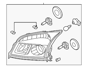 Headlamp Assembly - Ford (8T5Z-13008-C)