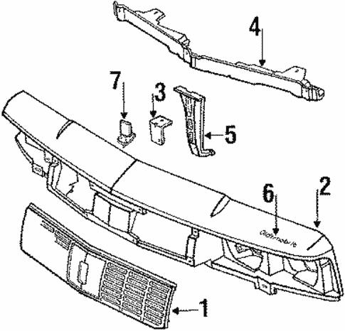 Grille Components For 1996 Oldsmobile Cutlass Ciera