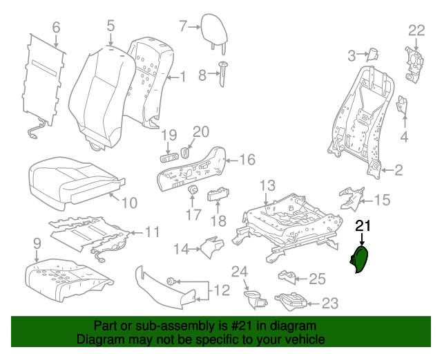 TOYOTA Genuine 71861-0E070-C0 Seat Cushion Shield