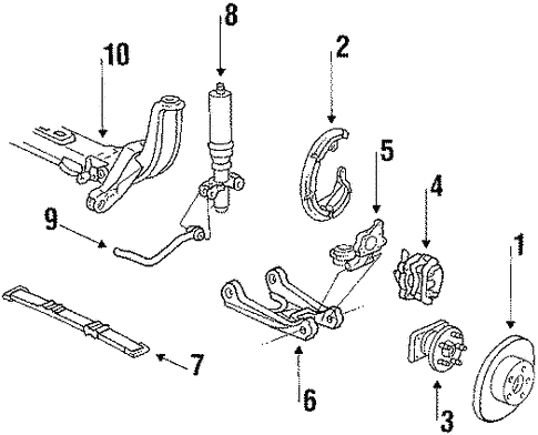 Rear Suspension/Rear Suspension for 1992 Buick Riviera #1