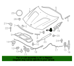 Hood Adjuster - BMW (51-76-7-183-752)