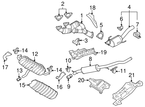 Exhaust Components For 2005 Volkswagen Touareg