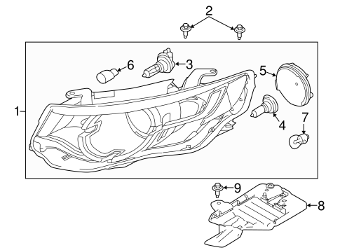 Headlamp Components For 2016 Land Rover Discovery Sport