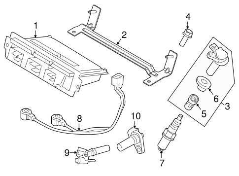 Ford Power Seat Part Diagram