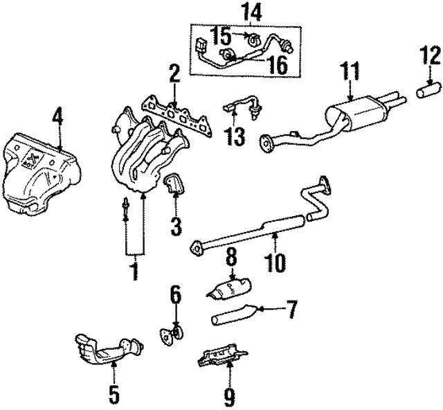 1997 2006 Acura Clip Wire Harness 36538 P8a A01
