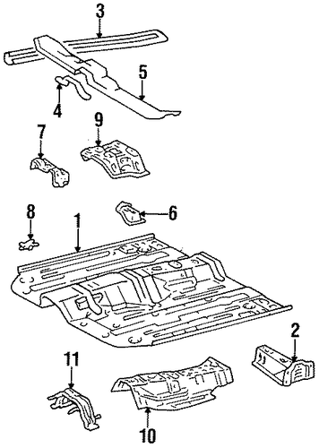 BODY/FLOOR & RAILS for 1996 Toyota Tercel #1