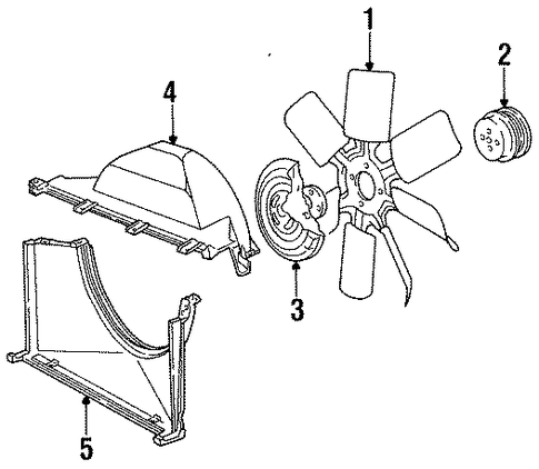 cooling fan parts for 1996 chevrolet caprice