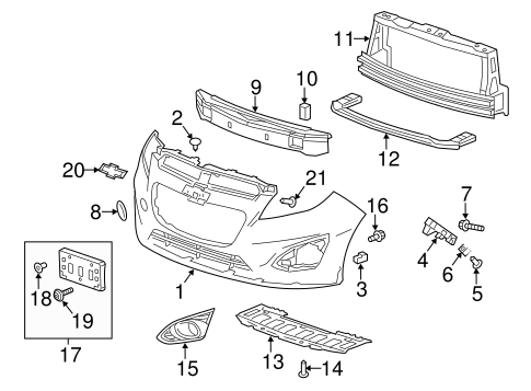 bumper components front parts for 2014 chevrolet spark. Black Bedroom Furniture Sets. Home Design Ideas