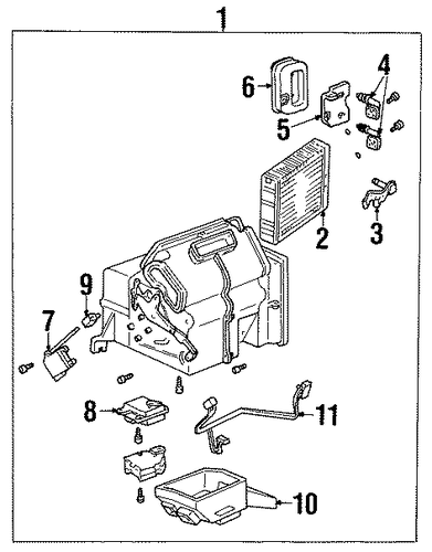 heater components for 2002 mercury villager