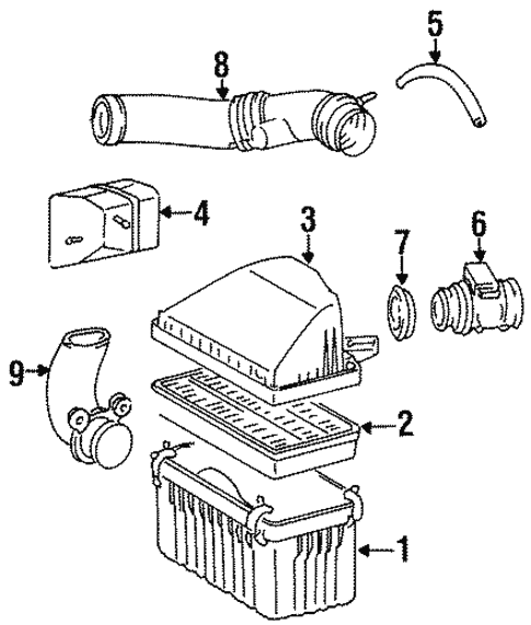 air intake for 1996 toyota t100 toyota of simi valley Toyota Power Steering Pump Diagram air intake for 1996 toyota t100