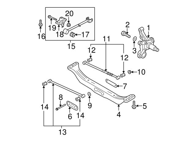 Kia 55215-2F000 Suspension Control Arm Bushing