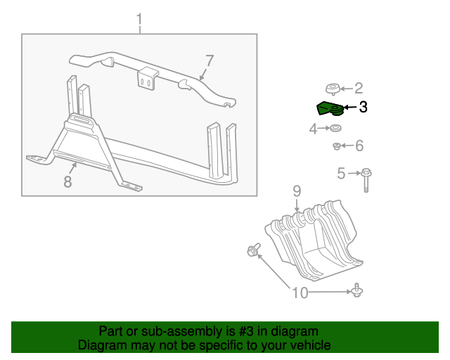 Genuine GM Radiator Support Mount Bracket 12479976