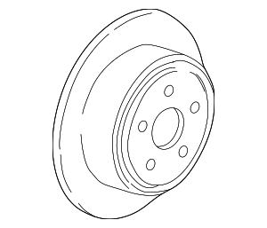 Disc Brake Rotor - Ford (YL2Z-2V026-BB)