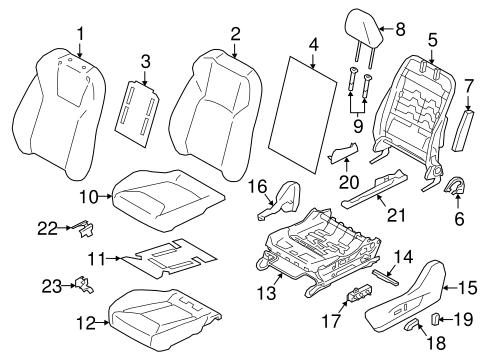 Driver Seat Components For 2018 Subaru Crosstrek