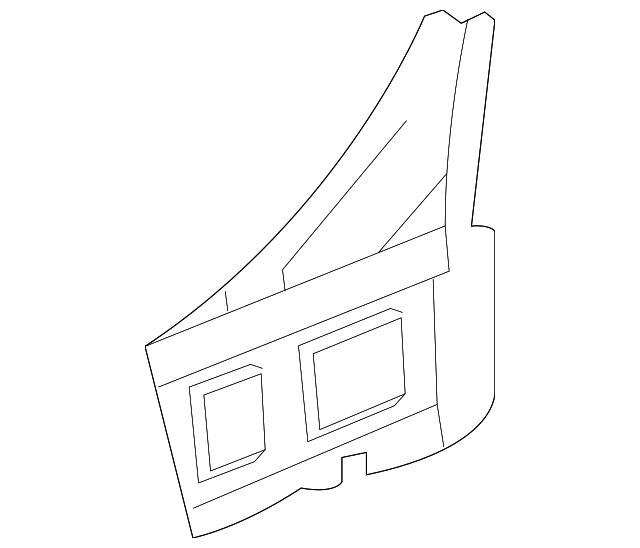 2016 2019 Chevrolet Cruze Lower Pillar Reinforced 23348267