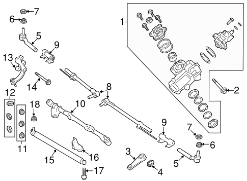 Steering Gear & Linkage for 2018 Ford F-350 Super Duty   TascaParts.comTasca Parts