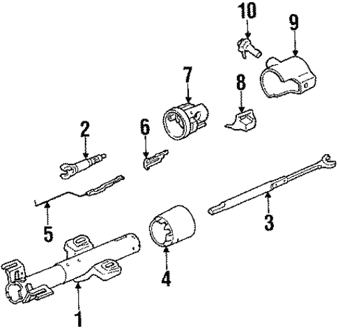 Groovy Oem 1987 Pontiac Fiero Steering Column Assembly Parts Wiring Digital Resources Bioskbiperorg