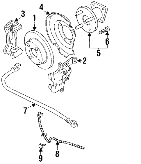 1997 Saturn Rear Brake Diagram