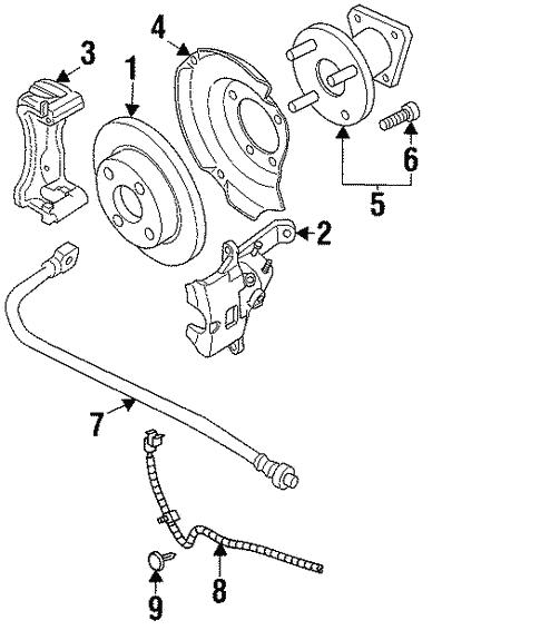 Rear Brakes For 1997 Saturn Sc1 Base