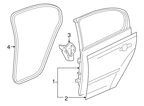 oem 2009 chevrolet cobalt door ponents parts gmpartsonline net Nissan Sentra Window Motor body door ponents for 2009 chevrolet cobalt 1