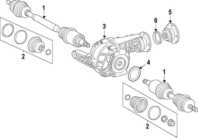 Axle Assembly - Mercedes-Benz (166-330-13-00)