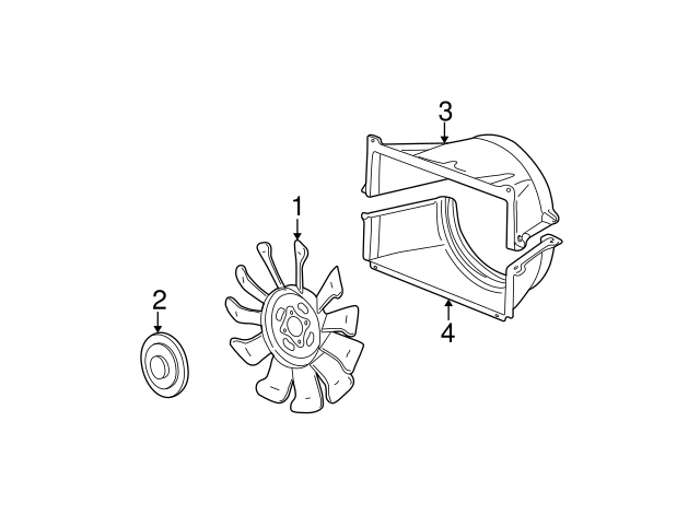 Lower Genuine GM 15751221 Engine Cooling Fan Shroud