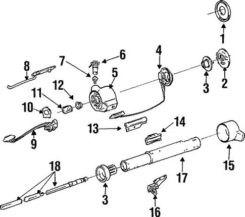 Oem 1987 Pontiac Grand Prix Steering Column Assembly Parts