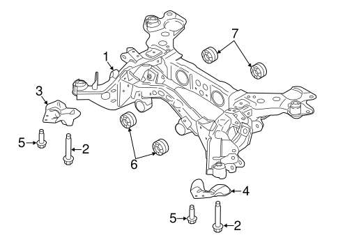 Rear Suspension/Suspension Mounting for 2017 Ford Edge #1