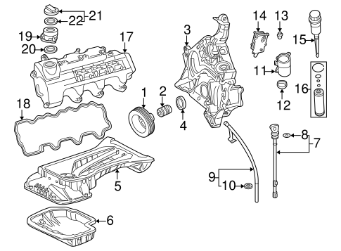 Engine Parts For 2002 Mercedes Benz Slk 32 Amg